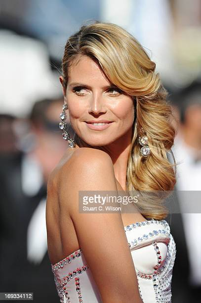 Heidi Klum attends the 'Nebraska' premiere during The 66th Annual Cannes Film Festival at the Palais des Festival on May 23 2013 in Cannes France