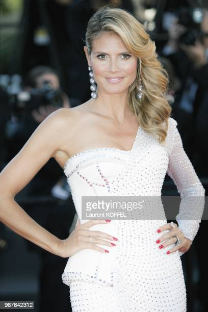 Heidi Klum attends the 'Nebraska' premiere during The 66th Annual Cannes Film Festival at the Palais des Festiva on May 23 2013 in Cannes France