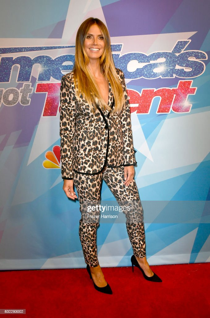 Heidi Klum attends the Premiere Of NBC's 'America's Got Talent' Season 12 at Dolby Theatre on August 15, 2017 in Hollywood, California.
