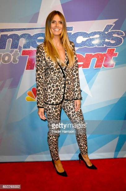 Heidi Klum attends the Premiere Of NBC's 'America's Got Talent' Season 12 at Dolby Theatre on August 15 2017 in Hollywood California