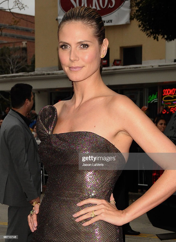 Heidi Klum attends the premiere of 'The Back-Up Plan' at Regency Village Theatre on April 21, 2010 in Westwood, California.