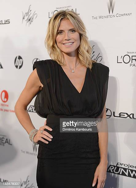 Heidi Klum attends the 'Project Runway' 10th Anniversary Party at the High Line on July 17 2012 in New York City