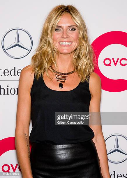Heidi Klum attends the QVC Fashion Week Show at The Suspenders Building on September 10, 2011 in New York City.