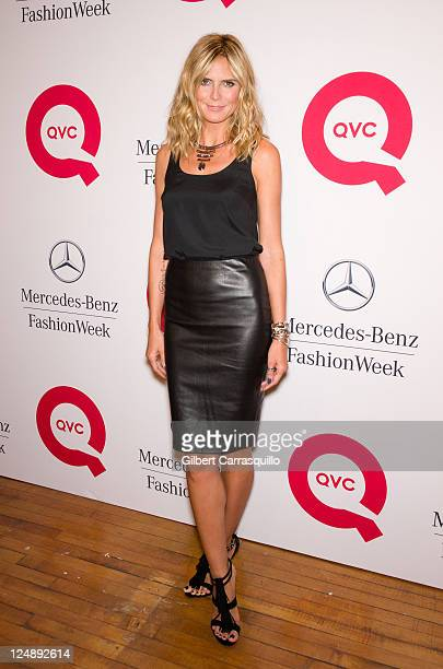 Heidi Klum attends the QVC Fashion Week Show at The Suspenders Building on September 10 2011 in New York City