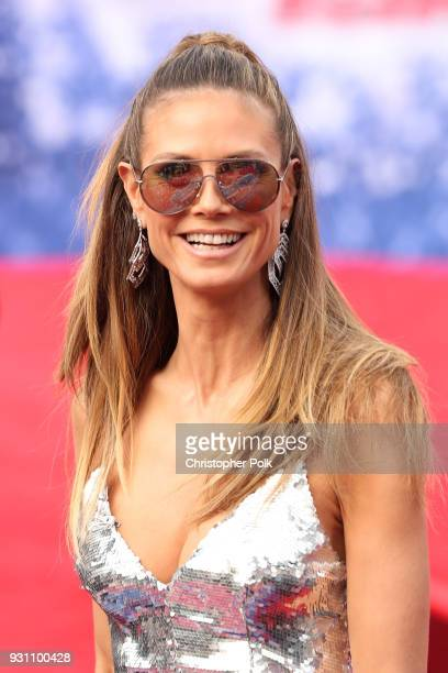 Heidi Klum attends the red carpet kickoff for America's Got Talent season 13 at Pasadena Civic Auditorium on March 12 2018 in Pasadena California