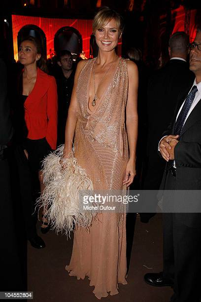 Heidi Klum attends the Roberto Cavalli party 40 anniversary at Les Beaux-Arts de Paris on September 29, 2010 in Paris, France.