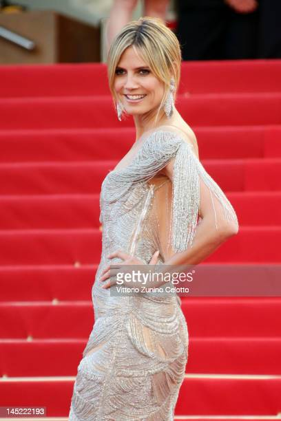 """Heidi Klum attends the """"The Paperboy"""" premiere during the 65th Annual Cannes Film Festival at Palais des Festivals on May 24, 2012 in Cannes, France."""
