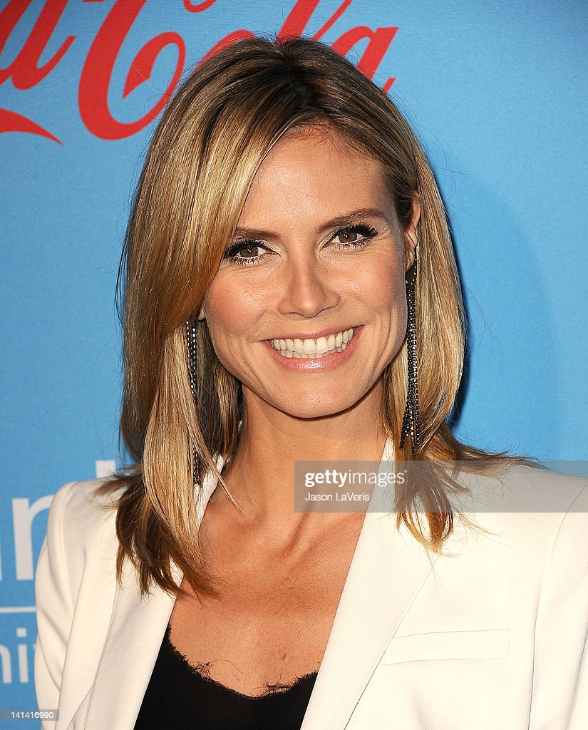 Heidi Klum attends the UNICEF 'Playlist With The A-List' celebrity karaoke benefit at El Rey Theatre on March 15, 2012 in Los Angeles, California.