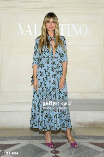 Heidi Klum attends the Valentino Haute Couture Fall/Winter 2019 2020 show as part of Paris Fashion Week on July 03, 2019 in Paris, France.