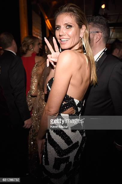 Heidi Klum attends The Weinstein Company and Netflix Golden Globe Party presented with FIJI Water Grey Goose Vodka Lindt Chocolate and Moroccanoil at...
