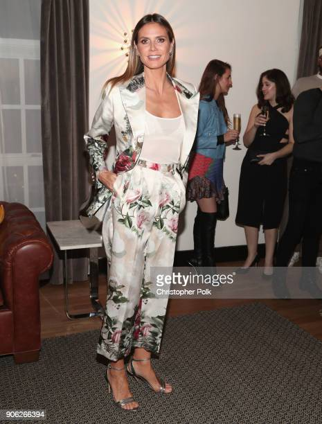 Heidi Klum attends the Wolk Morais Collection 6 Fashion Show at The Hollywood Roosevelt Hotel on January 17 2018 in Los Angeles California