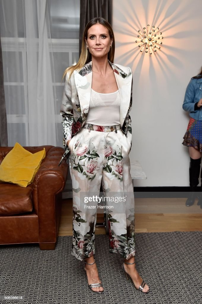Heidi Klum attends the Wolk Morais Collection 6 Fashion Show at The Hollywood Roosevelt Hotel on January 17, 2018 in Los Angeles, California.