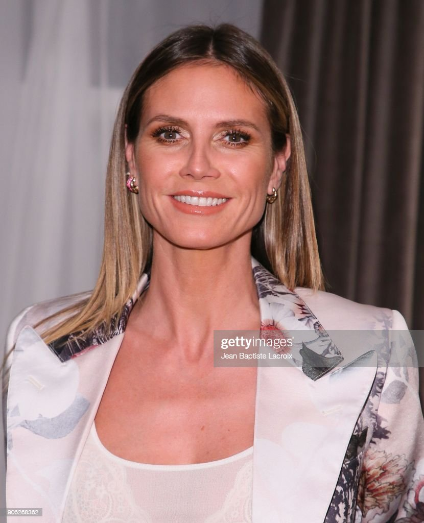Heidi Klum attends the Wolk Morais Collection 6 Fashion Show on January 17, 2018 in Los Angeles, California.