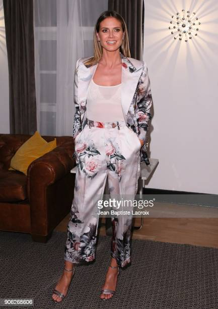 Heidi Klum attends the Wolk Morais Collection 6 Fashion Show on January 17 2018 in Los Angeles California