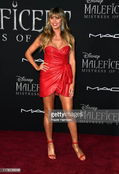 """Heidi Klum attends the World Premiere of Disney's """"Maleficent: Mistress of Evil"""" at El Capitan Theatre on September 30, 2019 in Los Angeles,..."""
