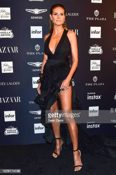 Heidi Klum attends The Worldwide Editors Of Harper's Bazaar Celebrate ICONS by Carine Roitfeld presented by Infor Stella Artois FUJIFILM Estee Lauder...