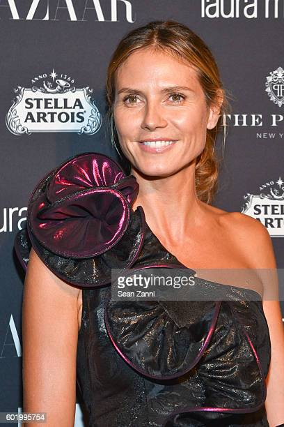 Heidi Klum attends The Worldwide Editors of Harper's Bazaar Celebrate Icons by Carine Roitfeld at The Plaza Hotel on September 9 2016 in New York City