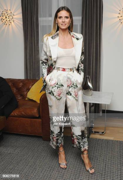 Heidi Klum attends Wolk Morais Collection 6 Fashion Show at The Hollywood Roosevelt Hotel on January 17 2018 in Los Angeles California