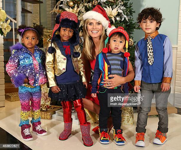 Heidi Klum brings in the holiday season with her Truly Scrumptious collection for Babies'R'Us on December 5 2013 in Burbank California