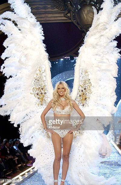 Heidi Klum during 9th Annual Victoria's Secret Fashion Show Runway at The New York State Armory in New York City New York United States