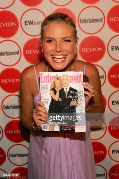 Heidi Klum during Entertainment Weekly Magazine 4th Annual Pre-Emmy Party - Inside at Republic in Los Angeles, California, United States.