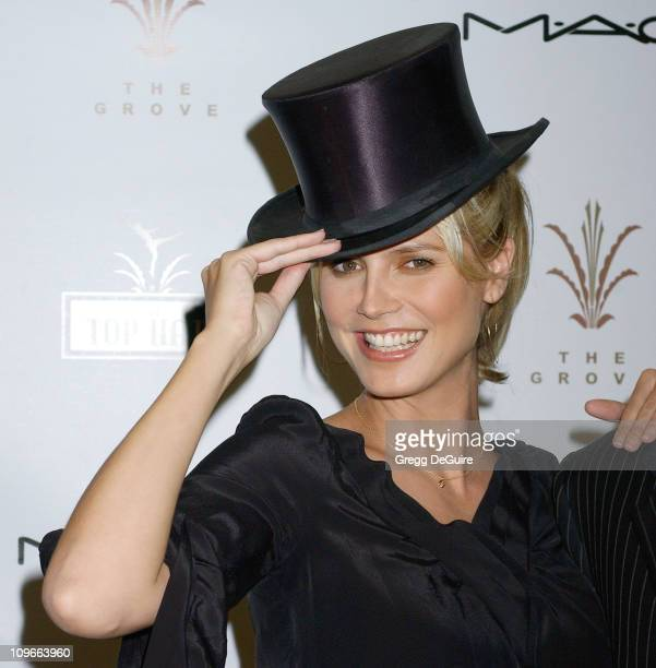 Heidi Klum during Heidi Klum Attends the Grove Auditions for the Top Hats on Behalf of Charity A Place Called Home at Debbie Reynolds Dance Studio in...