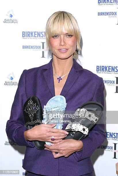 Heidi Klum during Heidi Klum Launches Self-Designed Collection for Famed Shoe Company Birkenstock at Bryant Park Hotel Cellar Bar in New York City,...