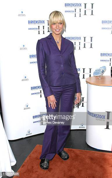 Heidi Klum during Heidi Klum Launches SelfDesigned Collection for Famed Shoe Company Birkenstock at Bryant Park Hotel Cellar Bar in New York City New...