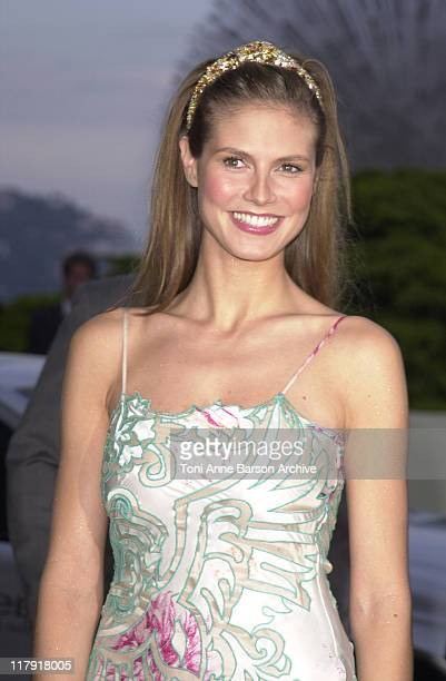 Heidi Klum during Laureus World Sports Awards Dinner and Silent Auction Arrivals at Monte Carlo Sporting Club in Monte Carlo Monaco