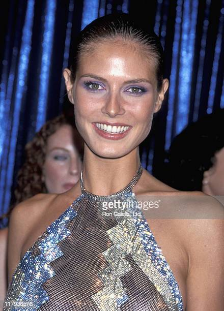 Heidi Klum during Party To Celebrate The 1999 Sports Illustrated Swimsuit Issue at The Supper Club in New York City New York United States