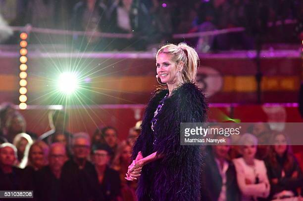 Heidi Klum during the finals of 'Germany's Next Topmodel' at Coliseo Balear on May 12 2016 in Palma de Mallorca Spain