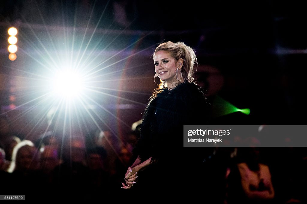 Heidi Klum during the finals of 'Germany's Next Topmodel' at Coliseo Balear on May 12, 2016 in Palma de Mallorca, Spain.