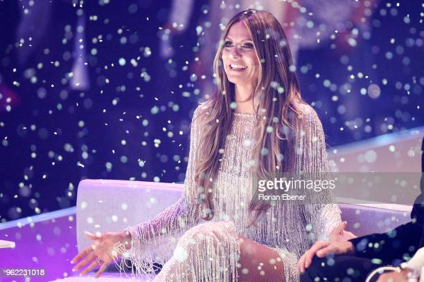 Heidi Klum during the Germany's Next Topmodel Finals at ISS Dome on May 24, 2018 in Duesseldorf, Germany.