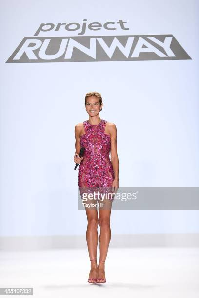 Heidi Klum during the Project Runway Season 13 Finale Show at MercedesBenz Fashion Week Spring 2015 at The Theatre at Lincoln Center on September 5...