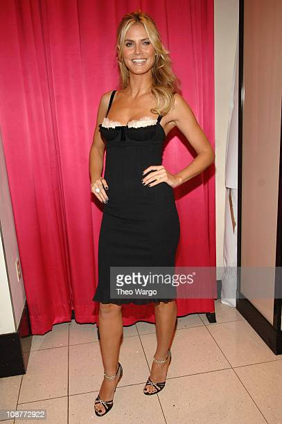 Heidi Klum during Victoria's Secret Valentine's Day Shopping Tips and Favorite Gifts at Victoria's Secret Herald Square Store in New York City New...