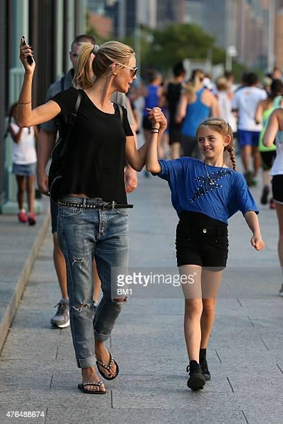 Heidi Klum enjoys summer in New York strolling with her children Leni and Henry on June 9 2015 in New York City