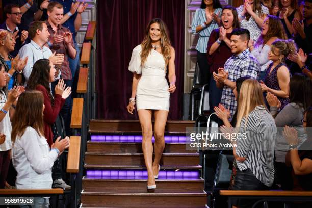 Heidi Klum greets the audience during 'The Late Late Show with James Corden' Wednesday May 9 2018 On The CBS Television Network