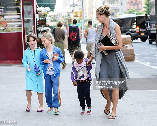 Heidi Klum, Helene Boshoven Samuel and Lou Sulola Samuel as seen on June 21, 2013 in New York City.