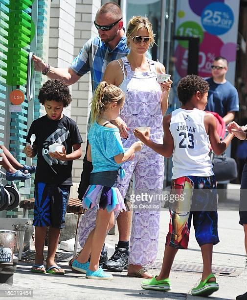 Heidi Klum, Helene Boshoven Samuel, Johan Riley Fyodor Taiwo Samuel and Henry Günther Ademola Dashtu Samuel are seen in soho at Streets of Manhattan...