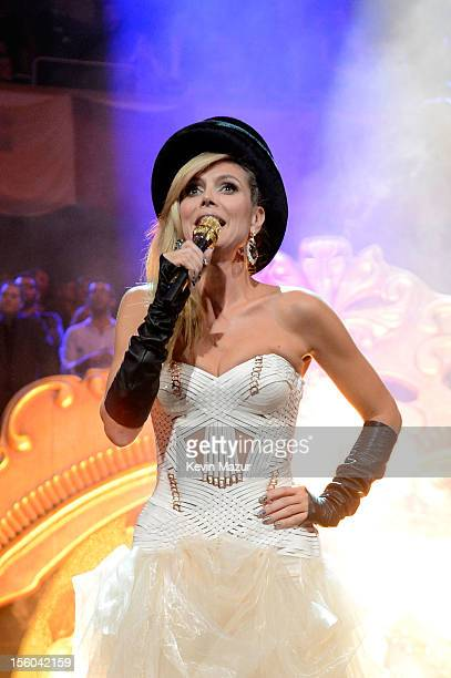 Heidi Klum hosts at the MTV EMA's 2012 at Festhalle Frankfurt on November 11 2012 in Frankfurt am Main Germany