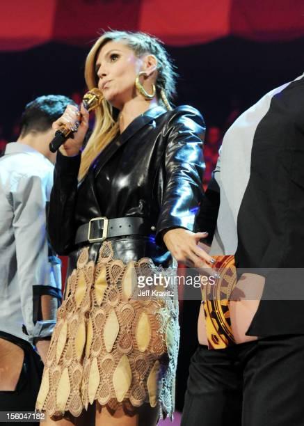 Heidi Klum hosts at the MTV EMA's 2012 at Festhalle Frankfurt on November 11, 2012 in Frankfurt am Main, Germany.