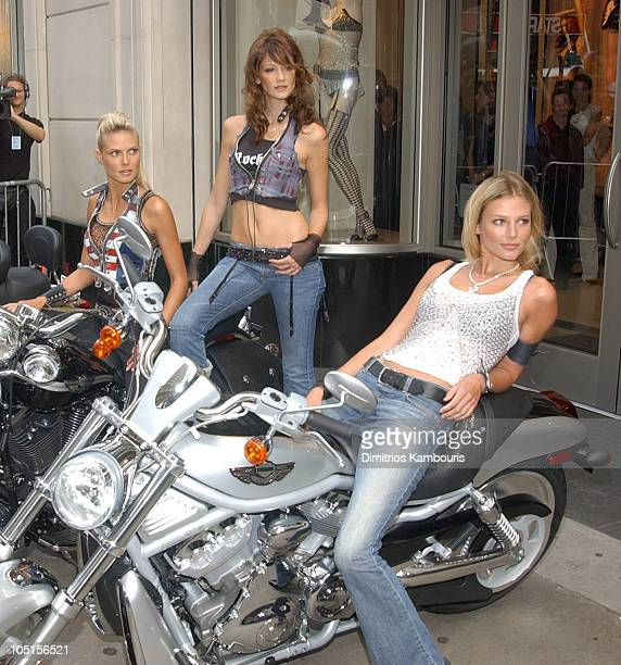 Heidi Klum Ines Rivero and Bridget Hall during Victoria's Secret Launch New Rock Angel Collection at Victoria's Secret 34th Street in New York City...