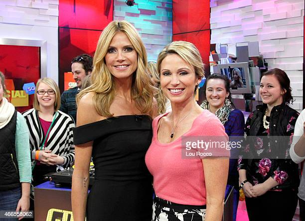 AMERICA Heidi Klum is a guest on 'Good Morning America' 3/13/15 airing on the ABC Television Network