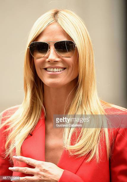 Heidi Klum is seen around Spring 2016 New York Fashion Week The Shows Day 2 on September 11 2015 in New York City