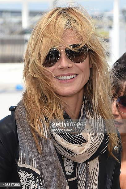 Heidi Klum is seen arriving in Nice for the 67th Annual Cannes Film Festival on May 23 2014 in Nice France