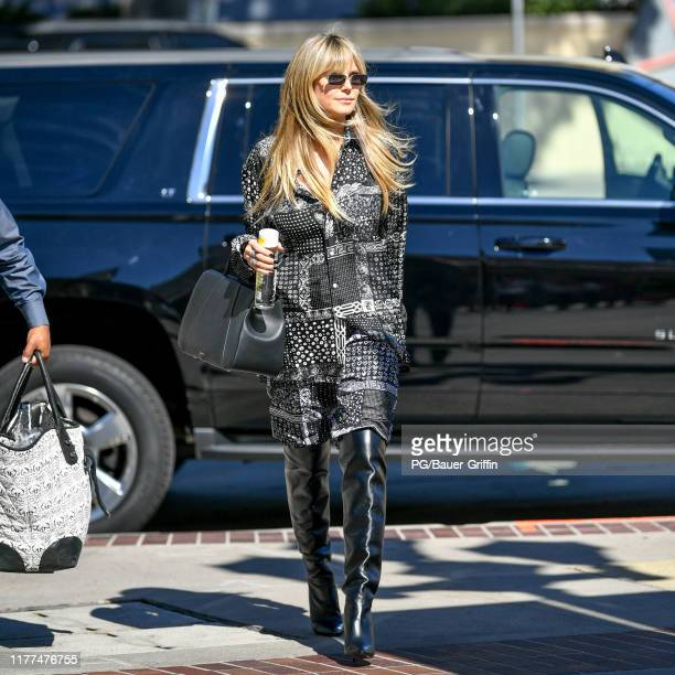 Heidi Klum is seen arriving to a taping of America's Got Talent on October 21 2019 in Los Angeles California