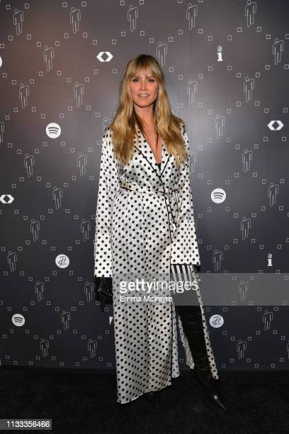 Heidi Klum is seen as Spotify presents The Billie Eilish Experience at The Stalls at Skylight Row on March 28, 2019 in Los Angeles, California.