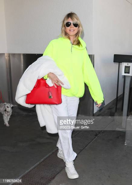 Heidi Klum is seen at LAX airport on February 07 2020 in Los Angeles California