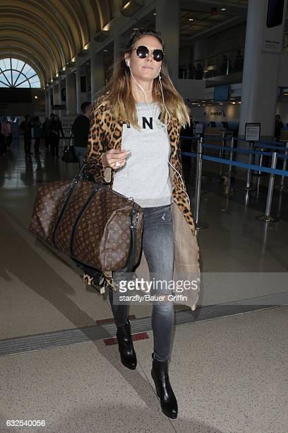 Heidi Klum is seen at LAX on January 23 2017 in Los Angeles California