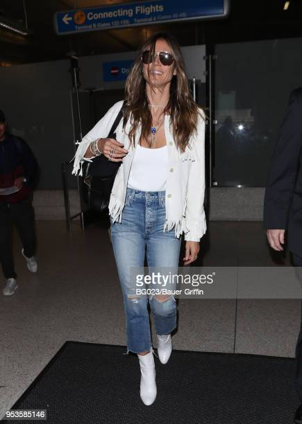 Heidi Klum is seen at LAX on May 01 2018 in Los Angeles California